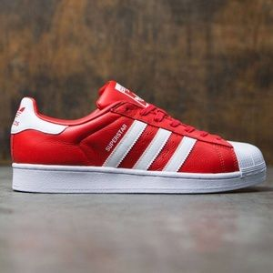 best service 72eac c1161 adidas Shoes - NWT Adidas Superstar Red w White Stripes